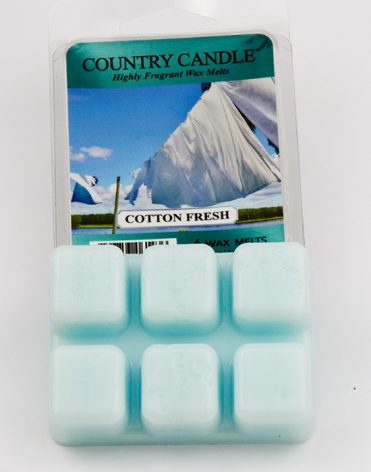 Vonný vosk Country Candle – Cotton Fresh recenzia skúsenosti