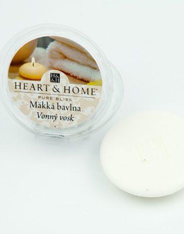 Vonný vosk Heart & home - mäkká bavlna recenzia