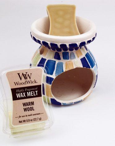 Vonný vosk WoodWick: Warm Wool skúsenosti, recenzia