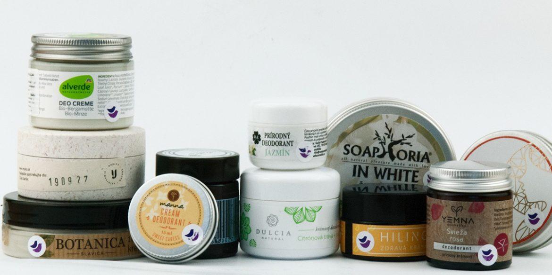 test, porovnanie prírodných krémových dezodorantov