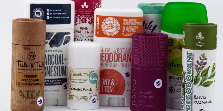 test, porovnanie tuhých prírodných deodorantov v tyčinke pre mužov, pre ženy