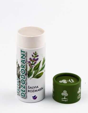 najlepší prírodný antiperspirant Saipo tuhý dezodorant so šalviou a rozmarínom - recenzia, skúsenosti