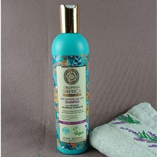 Hĺbkovo čistiaci šampón s rakytníkom Natura Siberica