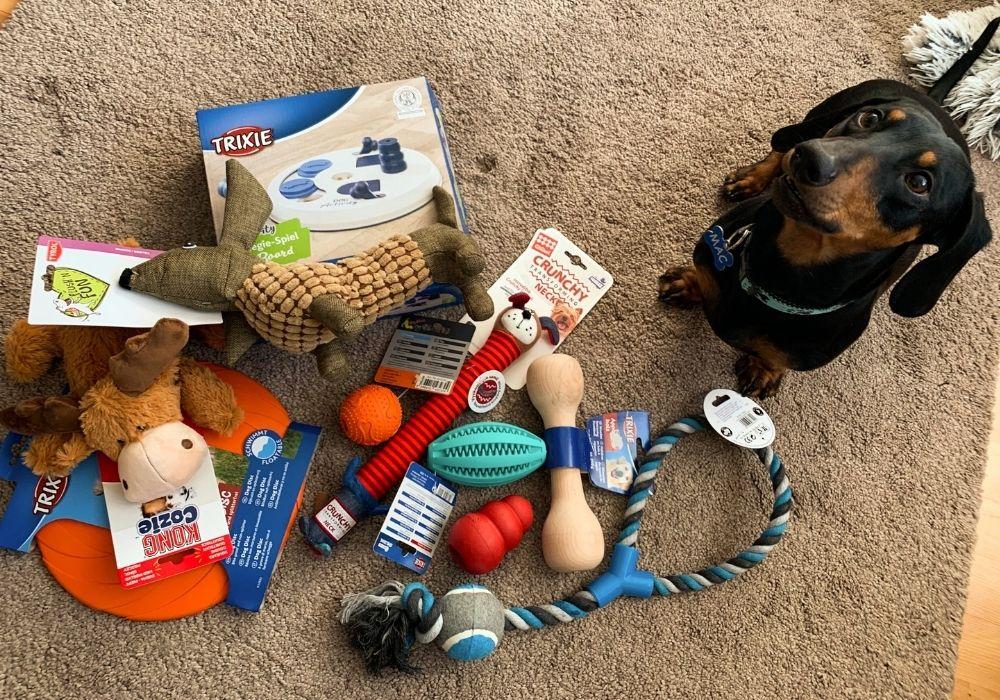 test hračiek pre psov